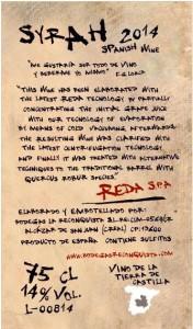 Adaptación contraetiqueta Syrah Reconquista para personalizado internacional a la firma REDA S.p.A.